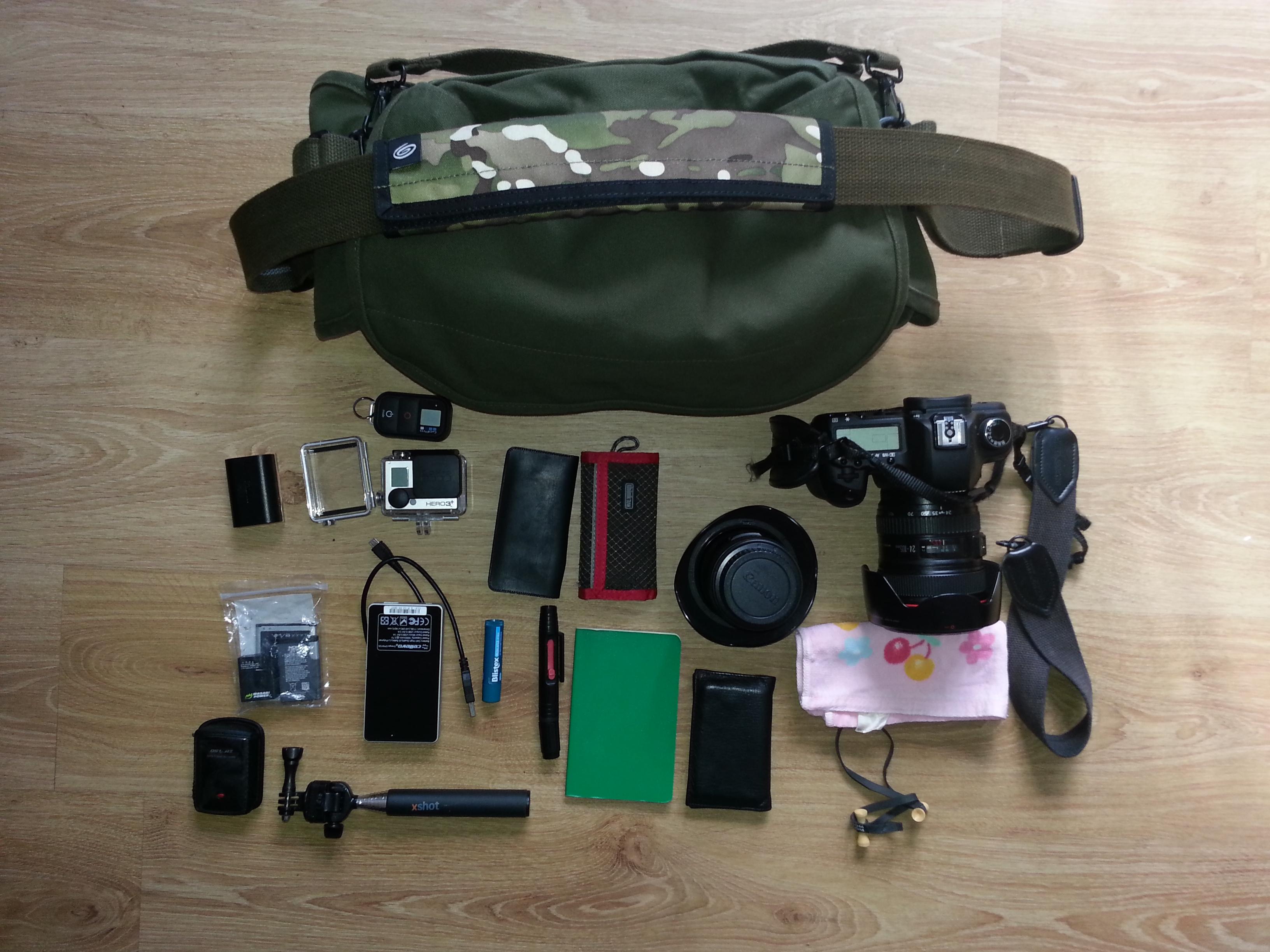Camera Bag Emptied